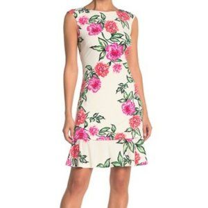 Eliza J. Floral Tiered Ruffle Dress